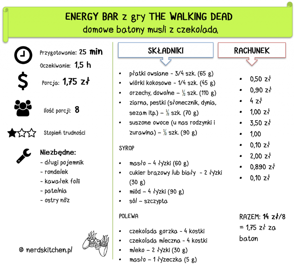 baton musli the walking dead energy bar