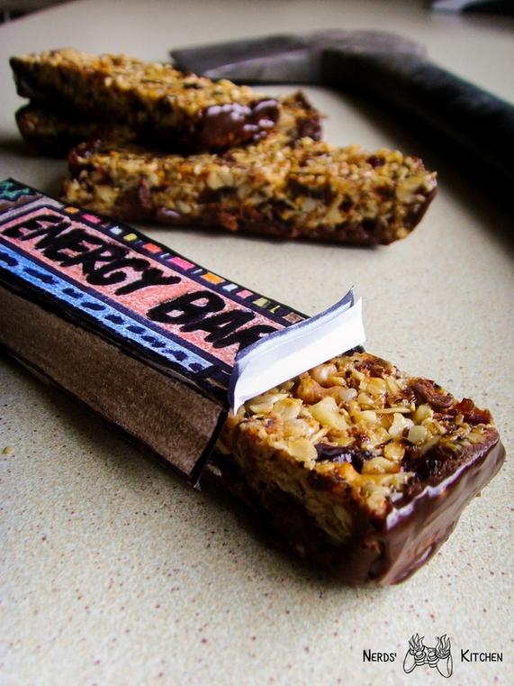 domowy baton musli z czekoladą