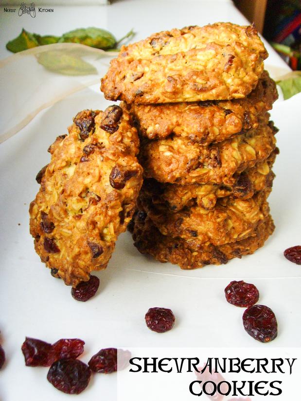 shevranberry cookies - tera - ciastka owsiane z żurawiną
