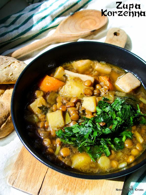 zupa korzenna - gothic - zupa z soczewicy i warzyw korzeniowych