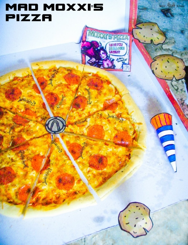 Mad Moxxi's Pizza - Borderlands 2 - pizza z pepperoni t