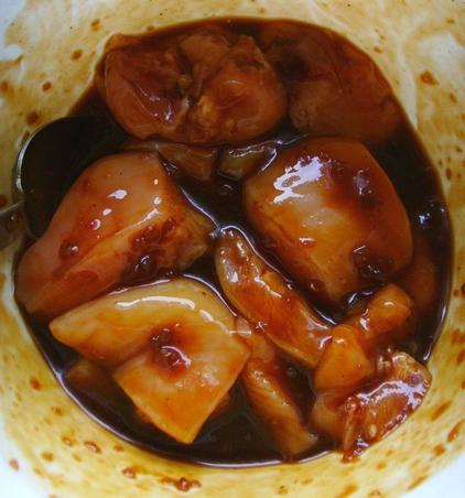 iguana bits - fallout - szaszłyki z kurczaka w marynacie z coli - 5