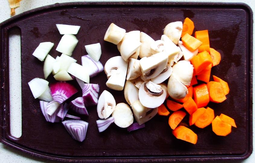 Stuffed Eggplant - Don't Starve - nadziewany bakłażan z farszem grzybowo-warzywnym (3)