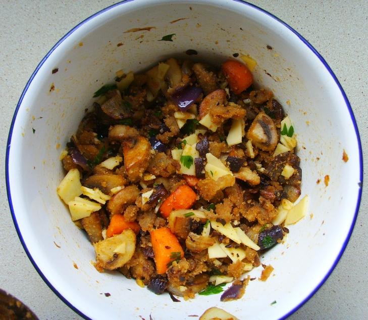 Stuffed Eggplant - Don't Starve - nadziewany bakłażan z farszem grzybowo-warzywnym (5)