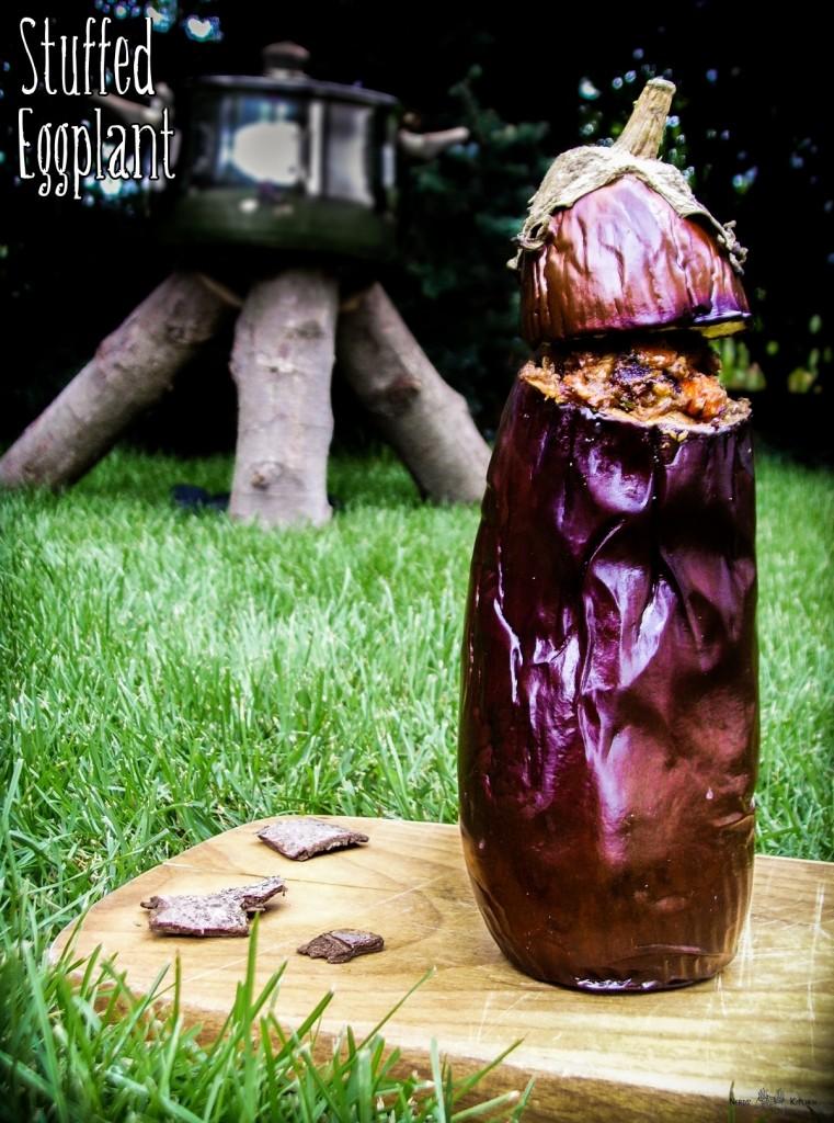 Stuffed Eggplant - Don't Starve - nadziewany bakłażan z farszem grzybowo-warzywnym