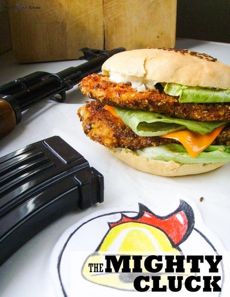podwójny chicken burger